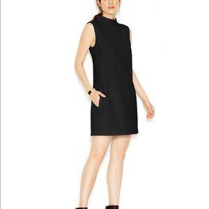RACHEL Rachel Roy Black Mock Neck Sleeveless Dress
